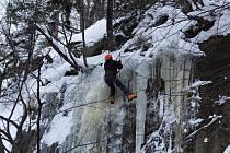 Ledopády na Štolpichu v Jizerských horách.