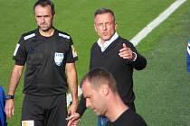 Fotbalisté Baníku Ostrava v neděli vyhráli 2:0 v Liberci. Trenér Slovanu Luboš Kozel.