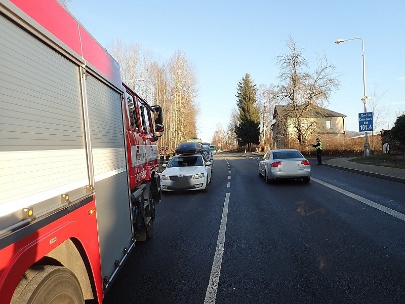 Dopravní nehoda v Rynolticích.