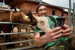Na dni otevřených dveří Farmy pod Ještědem si mohli příchozí vybrat z mléčných výrobků i pohladit kozy.