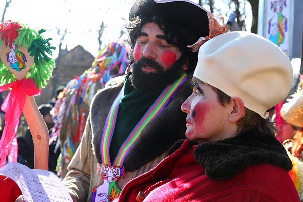 OSTAŠOVSKÝ MASOPUST se konal potřetí. Ani letos nechyběly tradiční masky, zvyklosti a říkadla