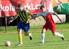 V krajském přeboru se hrálo derby, v němž domácí Višňová prohrála s Hrádkem 0:3.
