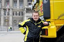 David Pabiška svůj závodní kamion představil v Liberci.