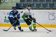 Přátelské utkání mezi týmy Bílí Tygři Liberec a BK Mladá Boleslav se odehrálo 9. srpna v liberecké Home Credit areně. Na snímku zleva Marek Kvapil a Lukáš Žejdl.