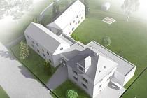 Vizualizace budoucí podoby mateřské školy Pastelka v Liberci-Ostašově.