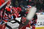 14. kolo extraligy ledního hokeje mezi HC Bílí Tygři Liberec a HK Mountfield Hradec Králové. Na snímku Matěj Chalupa.