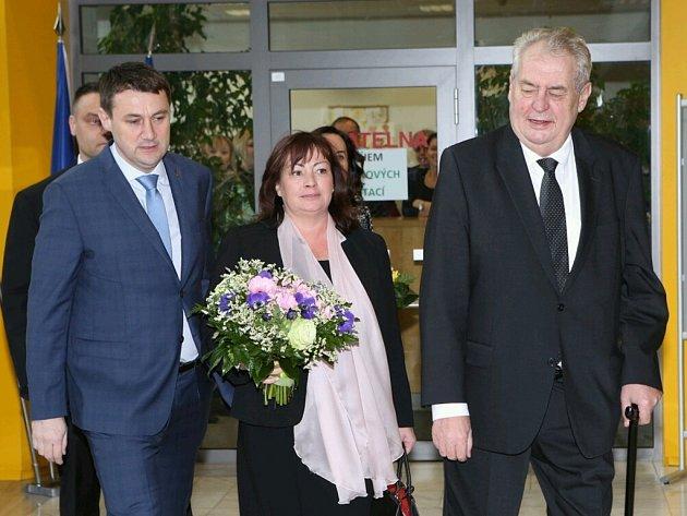 Prezident Miloš Zeman se setkal s hejtmanem Libereckého kraje Martinem Půtou.