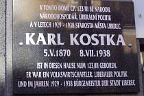 Pamětní deska Karla Kostky.