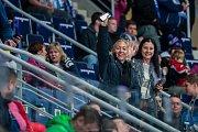 Utkání 23. kola Tipsport extraligy ledního hokeje se odehrálo 19. listopadu v liberecké Home Credit areně. Utkaly se celky Bílí Tygři Liberec a HC Kometa Brno. Na snímku jsou fanoušci Liberce.