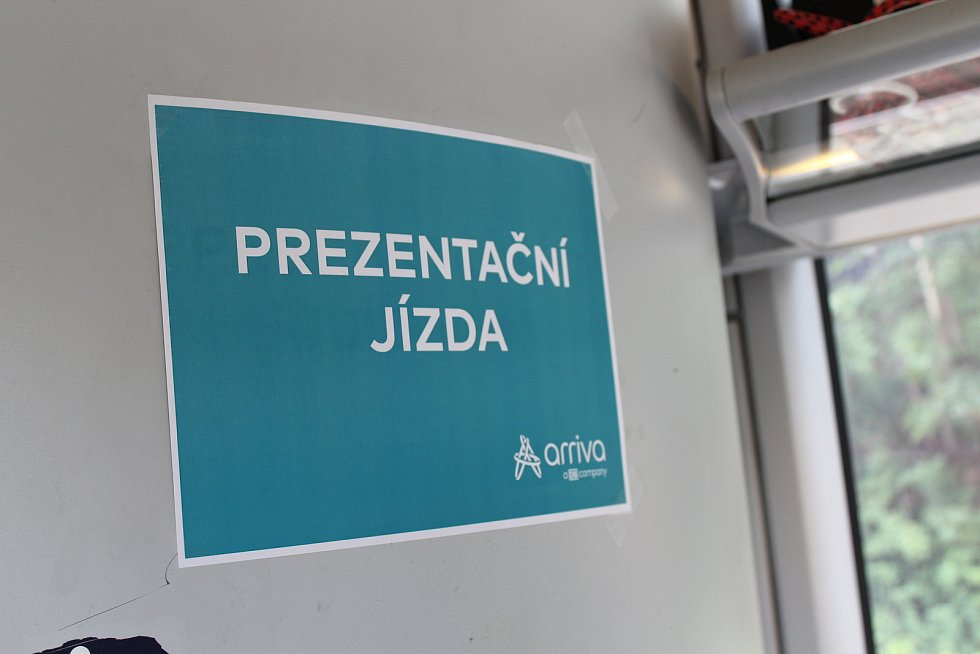 Prezentační jízda železničního dopravce Arriva na tratích v Libereckém kraji.