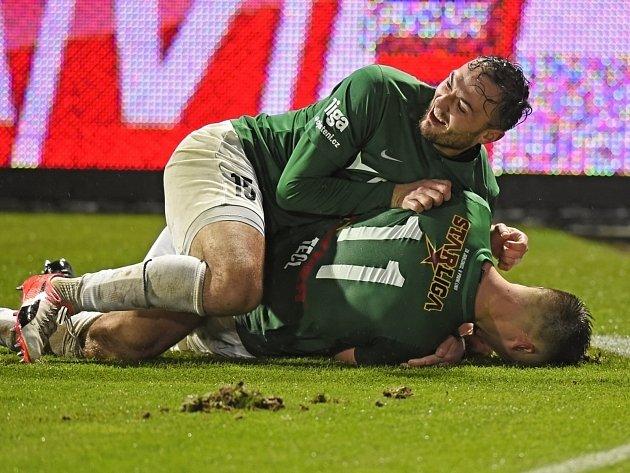 Na podzim jablonečtí fotbalisté prožívali gólovou radost hned třikrát. Doma porazili Liberec 3:0.