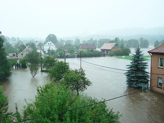 Fotografie zpovodní ve Vísce na Frýdlantsku