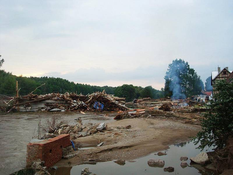Povodně 2010 ve Vísce na Frýdlantsku.