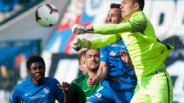 Snímek z utkání Liberce proti Jablonci
