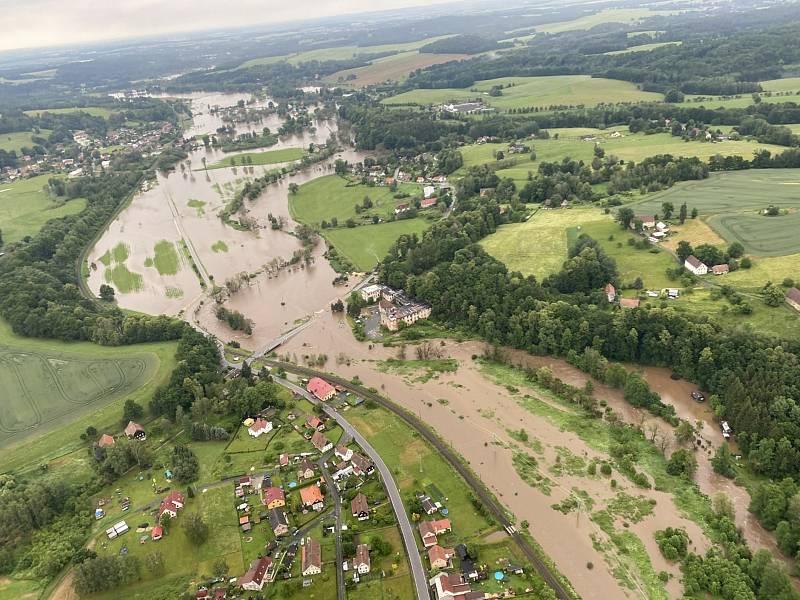 Jak vypadaly povodně na Frýdlantsku.