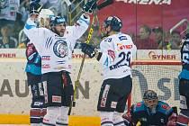 První utkání semifinále play-off Tipsport extraligy ledního hokeje mezi celky Bílí Tygři Liberec a Piráti Chomutov
