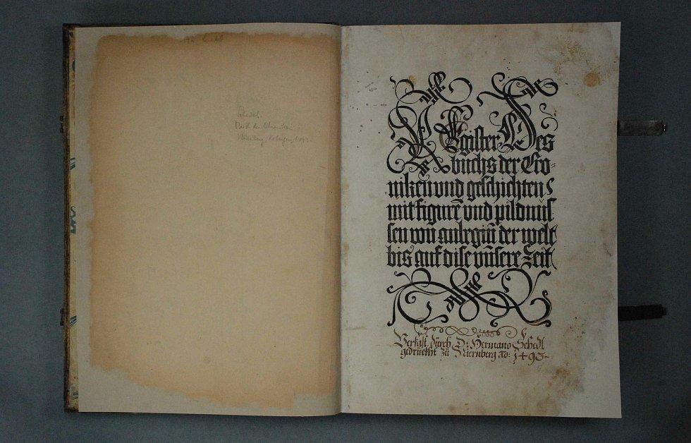 Hartman Schedel, titulní list po zrestaurování.