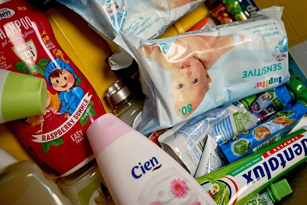 Sbírka potravin v libereckém Lidlu.