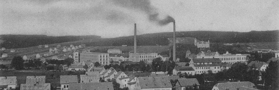 Takto vypadala továrna v roce 1920.