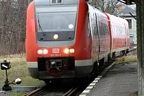 Vlaková souprava Deutsche bahn.
