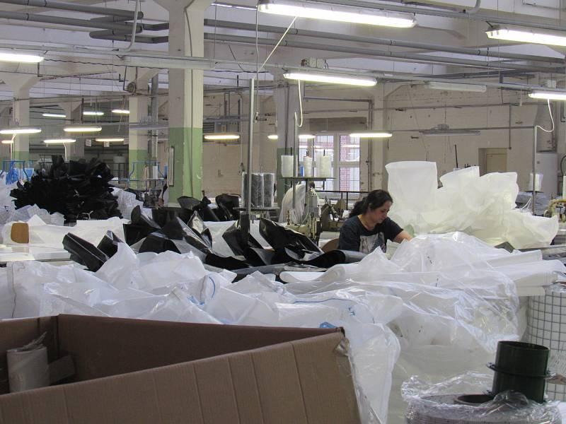 Závod Juta Višňová, výrobce velkoobjemových vaků, jediná textilka na Frýdlantsku