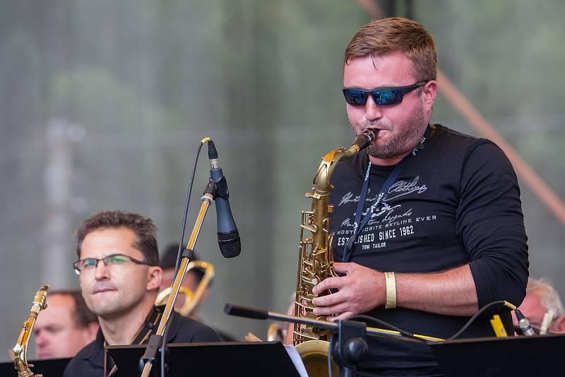 Slavnosti svijanského piva se konaly 15. července ve Svijanském Újezdu na Liberecku. Na snímku vystoupení kapely Big Band CL.