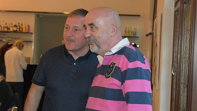 Volební štáb SPOLU. Petr Beitl (vlevo) a Vít Vomáčka.