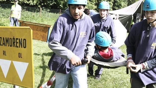 Malí dobrovolní hasiči soutěžili v Machníně.