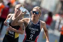 Petra Kuříková během závodu v Karlových Varech