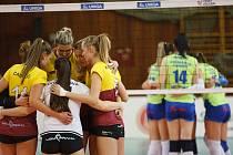 Volejbalové utkání žen Challenge Cupu mezi VK Dukla Liberec vs CSM Lugoj