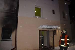 Požár bytu v liberecké ulici Svobody.