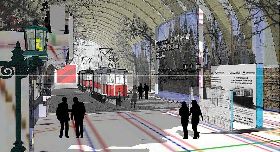 Vizualizace muzea tramvají