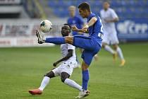 Liberec (v modrém Fukala) podlehl ve 4. kole ligy Plzni 0:1.