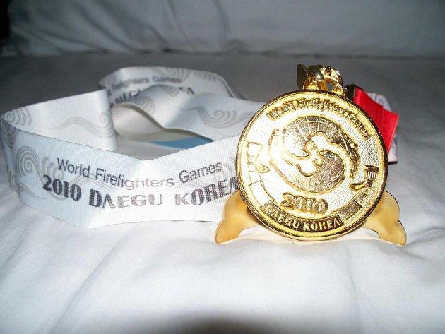 V nejtěžší disciplíně hasičského mistrovství světa zvané TFA Jan Semerádt z Frýdlantu nakonec zvítězil.