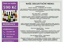 Kulinářská degustace francouzských vín a pokrmů