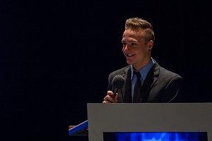 Vyhlášení ankety Nejúspěšnější sportovec Libereckého kraje za rok 2016 proběhlo 4. dubna v libereckém Divadle F. X. Šaldy. Na snímku Tomáš Portyk.