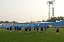Slovan vpodvečer trénoval na stadionu Šachťoru Karaganda