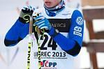 První den lyžařského šampionátu juniorů.