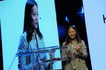 Do Thu Trang na konferenci módního magazínu Marie Claire.