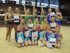 Děvčata z Moderní gymnastiky Liberec