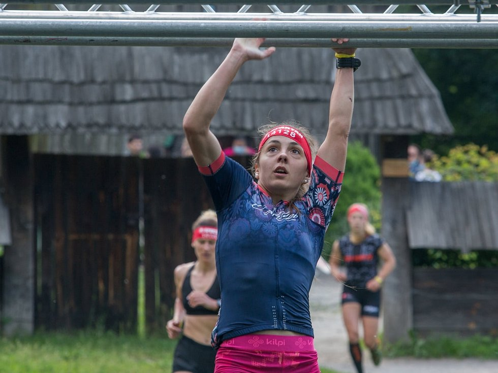 Adéla Voráčková na ručkování v Kyjevě.