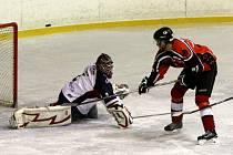 Krajská liga mužů v ledním hokeji. Ilustrační foto.