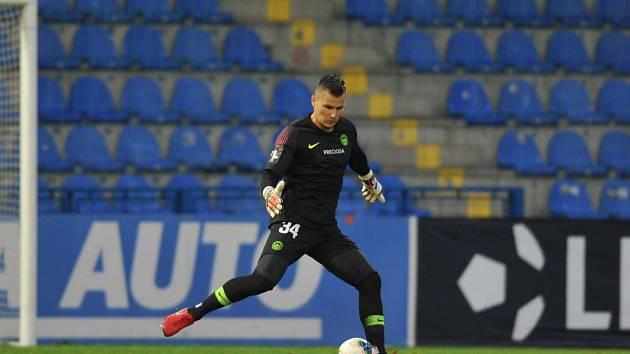 Brankář libereckého Slovanu Milan Knobloch.