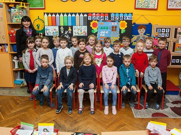 Prvňáci ze Základní školy Doctrina vLiberci.