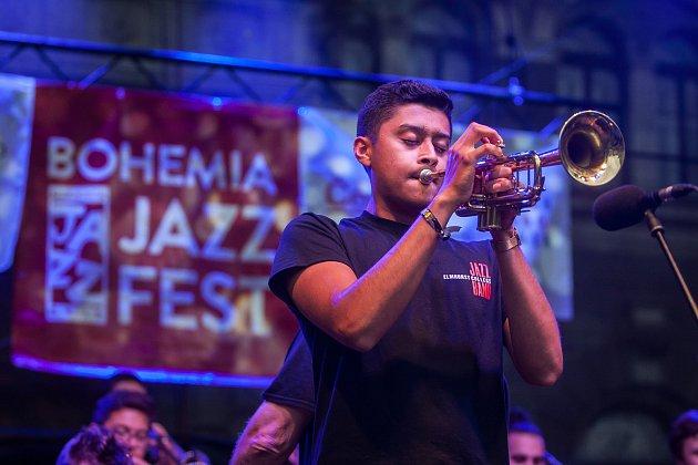 Elmhurst College Jazz Band (USA) vystoupili 12. července v rámci Bohemia Jazz Festu v Liberci.