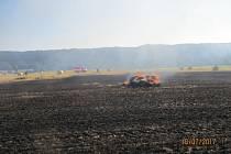 Požár v Sedmihorkách u Turnova.