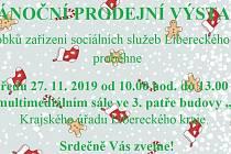 Vánoční prodejní výstava výrobků zařízení sociálních služeb Libereckého kraje