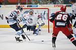 14. kolo extraligy ledního hokeje mezi HC Bílí Tygři Liberec a HK Mountfield Hradec Králové