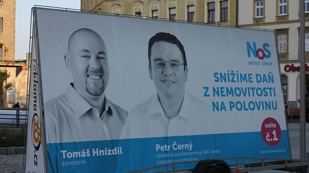 Čtyři hodiny trvala výstava v rámci předvolební kampaně, kterou v centru Liberce uspořádala Změna pro Liberec.