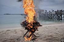 Vatra se želvovinou.